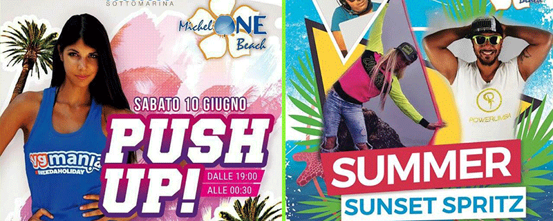 Eventi a Sottomarina: Push Up Party ai Bagni Miki con Vg Mania!